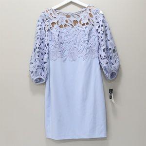 Petite Lace-Trim Dress